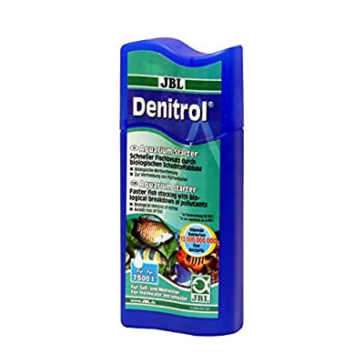 JBL Denitrol 250ml, Activateur de bactéries pour l'introduction de poissons dans les aquariums d'eau douce et d'eau de mer