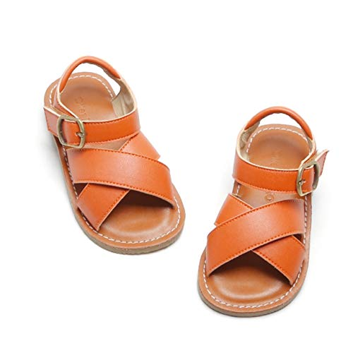 Otter MOMO Girls' Open Toe Strap Flat Sandals Summer Casual Sandals (Toddler/Little Kid)