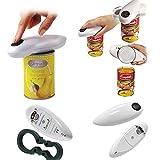 Abrebotellas Abridor de latas de botella de tarro Abridor de latas eléctrico, abrelatas de lata eléctrico automático Para el hogar, mejor herramienta abierta Para chef de cocina (talla única, negro +