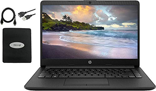 2021 HP 14 inch HD Laptop Newest for Business and Student, AMD Athlon Silver 3050U (Beat i5-7200U), 16GB RAM, 128GB SSD + 1TB HDD, 802.11ac, WiFi, Bluetooth, HDMI, Windows 10 w/HESVAP 3in1 Accessories
