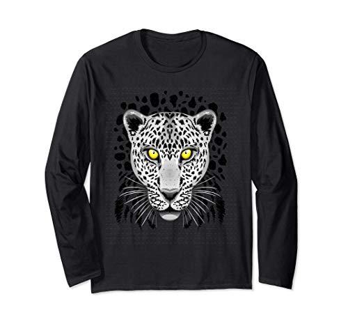 Leopard Cheetah para Hombres Mujeres Nios Grfico con ojos Manga Larga