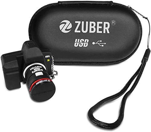 ZUBER® Camera Novelty USB Flash Drive Key Pen Drive Memory Stick 4GB/8GB/16GB/32GB/64GB/128GB/256GB//512GB/1TB/2TB in 2.0, 3.0 & 3.1 Snelle gegevensoverdracht Draagbare betrouwbare Creative Data opslag USB Geweldig cadeau Idee UK 64GB 3.0
