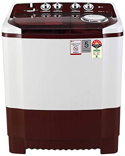 LG 8 Kg Semi-Automatic Top Loading Washing Machine (P8035SRMZ, Burgundy)