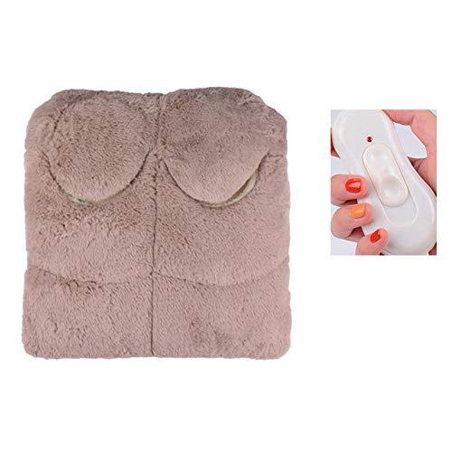 FPXNBONE Scaldapiedi con Massaggio Shiatsu,Tesoro del Piede Caldo Plug-in, artefatto-Piede Caldo Rimovibile e Lavabile,Ciabattona scaldapiedi in Poliestere