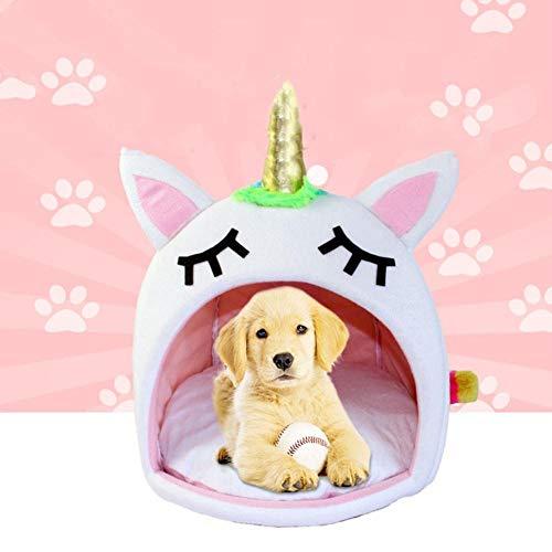 ERTY Haustierhütte für Katzen, große und kleine Hundehütte, Hamster, Einhorn, Modellierung, Hundebetten, siehe abbildung, S