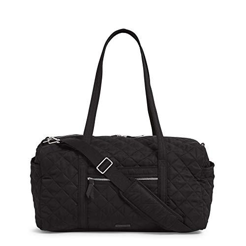 Vera Bradley Women's Performance Twill Medium Travel Duffle Bag, Black, One Size