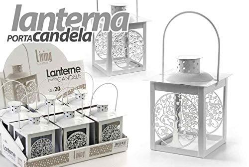Gicos Lanterna Porta Candela lumini Tea Light 7 * 15(11) cm Living Garden Classica Shabby Chic Decoro Albero della Vita ACA-732775