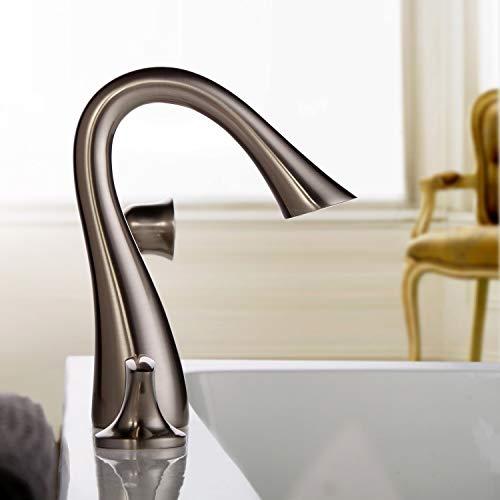 Jiuzhuo Sleek Design 5 Hole Roman Tub Bathroom Faucet Chrome, Brushed Nickel Finish (Brushed Nickel)