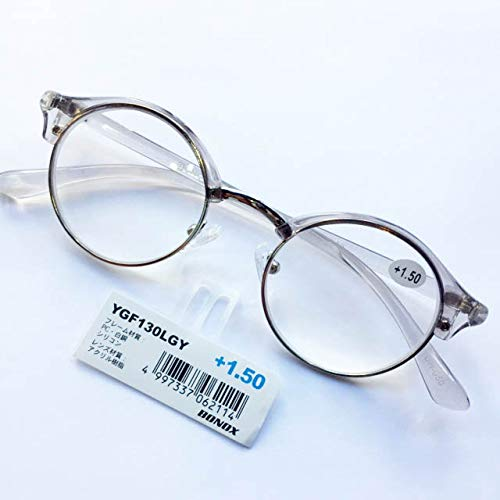 YGF130 老眼鏡 福祉 介護 ルーペ Reading Glasses シニアグラス ダルトン BONOX 男女兼用 敬老の日 プレゼント 母の日 (LIGHTGRAY, 2.0)