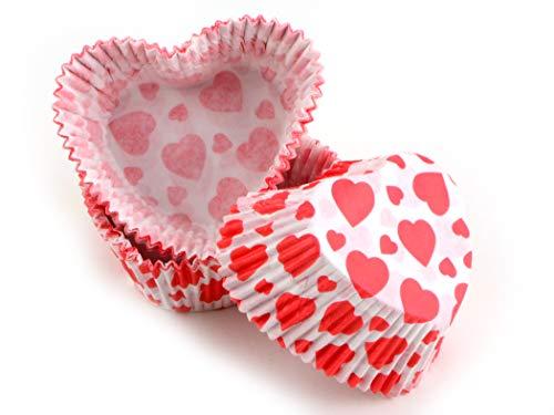 Muffinkapseln Herzform rote Herzen 36 Stück