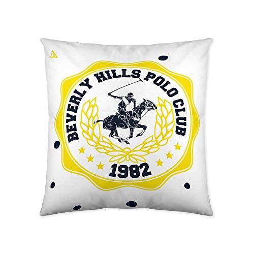 Beverly Hills Polo Club Nolan Funda de cojín, Algodón, Blanco, Sin Relleno