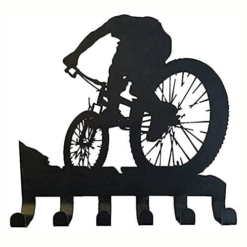 GHMPNLG Porte-gains de vélo de montagne, autocollant mural de silhouette de vélo en métal, décoration murale de la maison, sans substances nocives, non toxique, coffre-fort, pour le bureau de la chamb