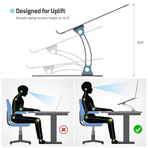 Nulaxy Soporte ergonómico para ordenador portátil, ángulo de altura ajustable 3