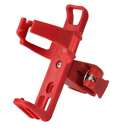 Tuimiyisou Soporte para Botella de Agua de la Bicicleta de Ruta, el plástico Durable Soporte para Tazas, la Bici Accesorios Caldera, Rojo