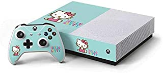 Skinit Decal Gaming Skin for Xbox One S All-Digital Edition Bundle - Officially Licensed Sanrio Hello Kitty Blue Background Design