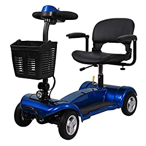 Portable Mobility Scooter 4mph Class 2 Travel Pavement Fits in Most Car Boots 4 (Blue)