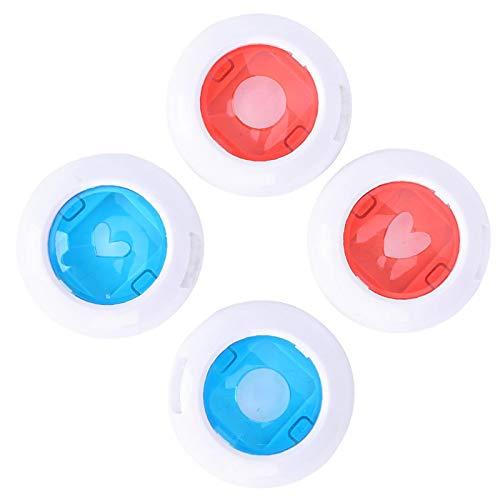 Emoshayoga Filtros de cámara Filtros de Flash de Primer Plano Colorido Filtro de Linterna instantánea Juego de filtros útil Filtro de Color de(4 Packs with Hollow)