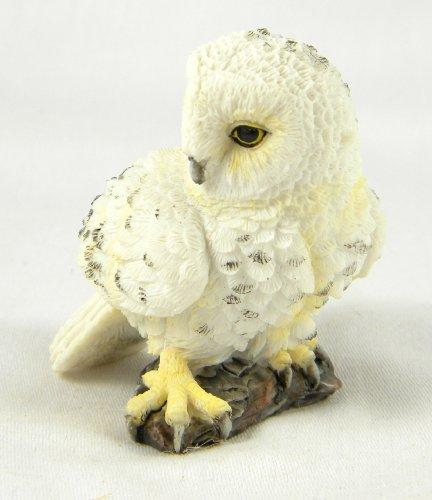 "Hedwig Snowy White Owl Statues 2.5"" Mini Owl Figurine Figure"