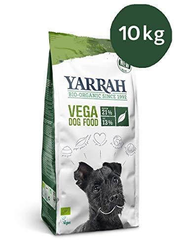 Yarrah Bio-Hundefutter - Für alle Hunde geeignet - Ohne künstliche Zusatzstoffe, Pestizide oder GVO (Vega, 10 kg)