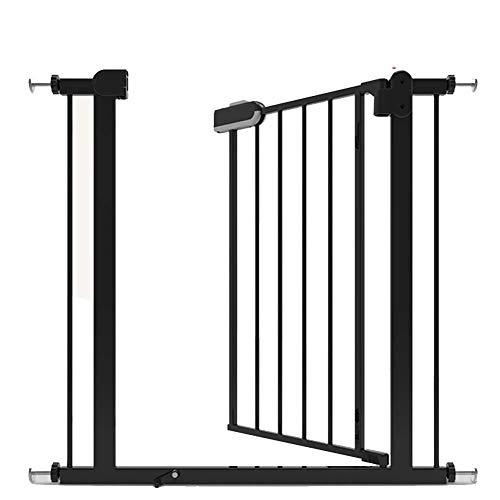 Kratka na schody, bramka zabezpieczająca przed dziećmi, drzwi, schody, ogrodzenie dla dziecka, drzwi dla zwierząt domowych, bramka do drzwi i schodów, automatyczne zamykanie, czarna, 76-148 bariery dla psów