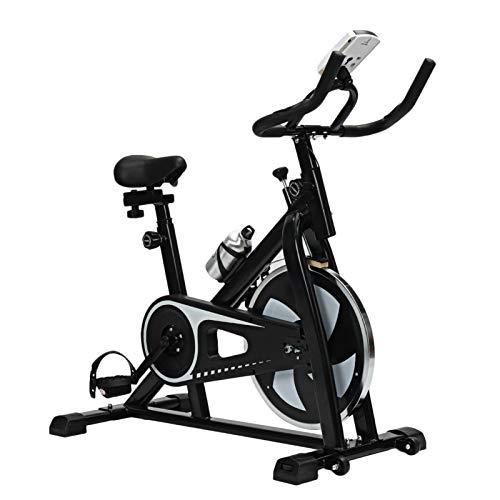 ZLDMYC Bicicleta de Ejercicio Cardio Ciclismo casa Ultrasilencioso Interior Ciclismo Pérdida de Peso Máquina Fitness Gimnasio Dinámico Bicicleta Equipo de Fitness (Color : Black)