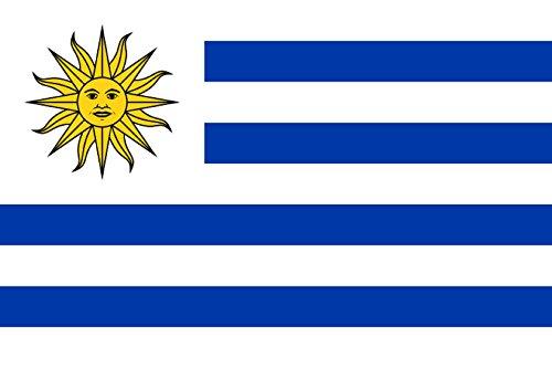 Gran Bandera de Uruguay 150 x 90 cm Satén Durobol Flag