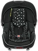 mycarsit asiento auto, grupo 0+ (de 0a 13kg), diseño de estrellas negras