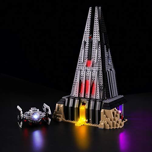 BRIKSMAX Kit de Iluminación Led para Lego Star Wars Castillo de Darth Vader, Compatible con Ladrillos de Construcción Lego Modelo 75251, Juego de Legos no Incluido