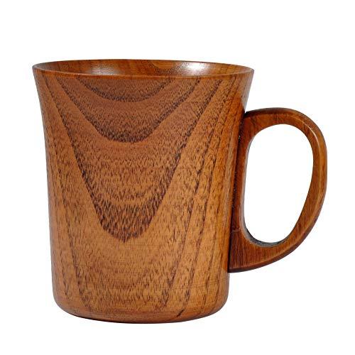 Savlot - houten beker Primitive Jujube houten beker handgemaakte natuurlijke dennen houten beker voor ontbijt bier, melk drinken, groene theekopje,
