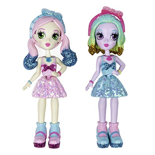 "Off the Hook Style BFFs, Naia & Jenni (Spring Dance), 4"" Small Dolls with Mix & Match Fashions & Accessories, for Girls Aged 5 & Up"