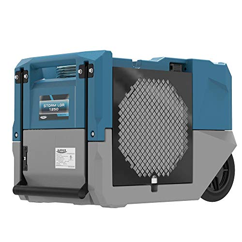 ALORAIR LGR 1250 Industrial Commercial Dehumidifier with Pump, 125 PPD AHAM, Compact, Portable, or Homes and Job Sites, Blue