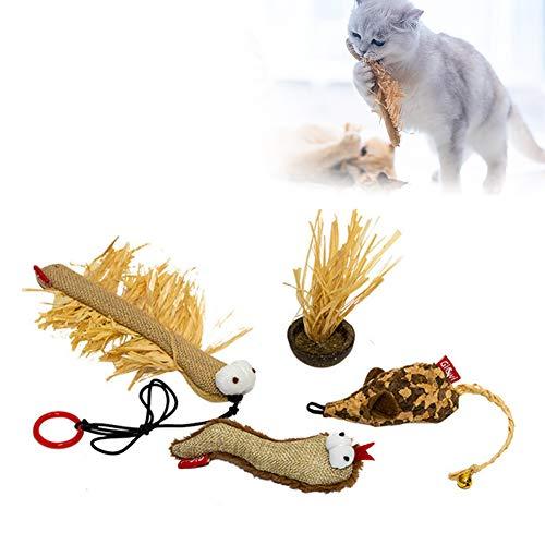 PETVE Katzen-Kauspielzeug, Interaktives Katzenspielzeug, Kätzchen-Zahnen-Kauspielzeug, Niedliches Backenzahnspielzeug Für Kleine, Mittelgroße Katzen