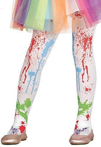 Mädchen Weiß Farbkleckse Rainbow