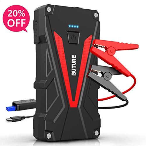 BuTure Starthilfe Powerbank 1200A 15800mAh,12V Auto Starthilfe für 7.0L Benzin und 6.0L Dieselmotor