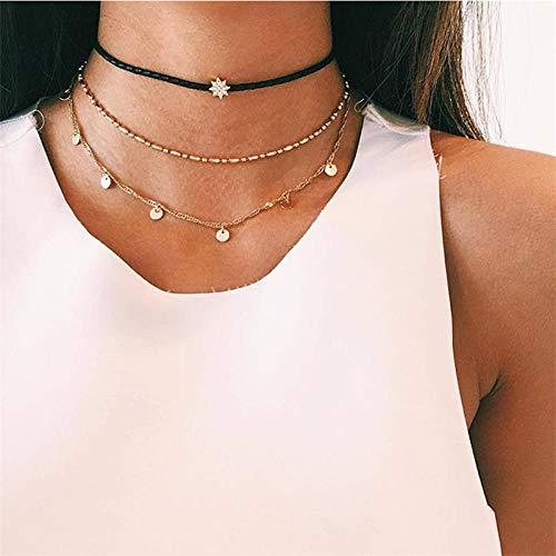 JEFEYI Tobillera de Playa Collar de Cadena de Mariposa de Animal pequeño Que Vende Collar de Cadena de Cadena de Color Dorado y Plateado Accesorios de joyería para mujeres-43331