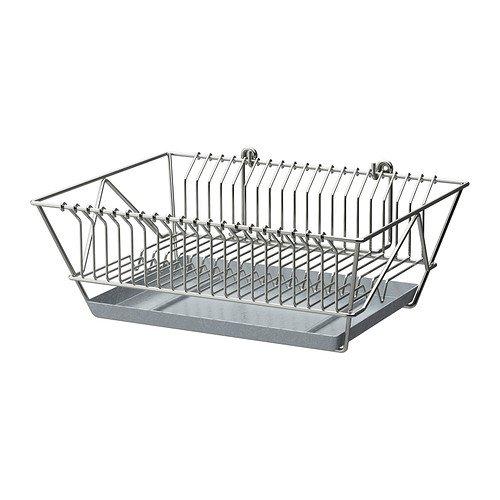 IKEA FINTORP - escurreplatos, niquelado - 37,5 x 29 x 13,5 cm