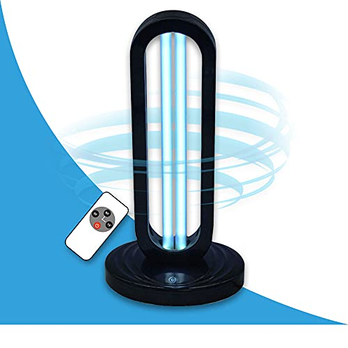 UVILIZER Tower - UV Light Sanitizer & Ultraviolet Sterilizer Lamp w/ Remote Control (Portable UV-C Cleaner for Home, Baby Room, Office   38W UVC Disinfection Bulb   Kill Germs, Bacteria, Virus   USA)