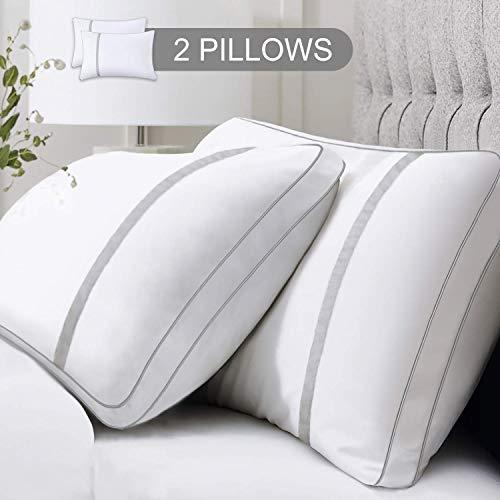 BedStory slaapkussens, 2 stuks, bedkussens naar beneden, alternatieve hypoallergene kussens met microvezelvulling voor zij-/rug/maagslaap, kussen voor nekpijn met standaardgrootte wasbaar