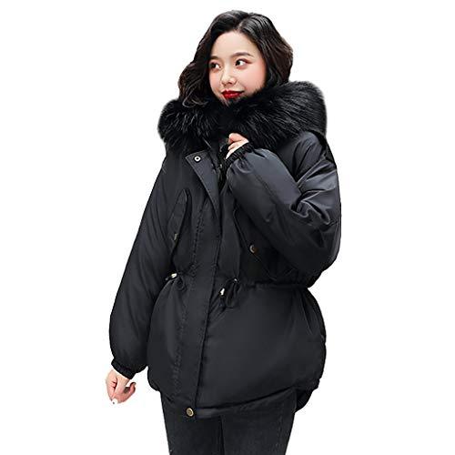 QinMM Snowmass Winterjacke Damen, Damenmode Oberbekleidung Langarm Kapuzenjacken Baumwolle Gepolsterte Taschen MäNtel