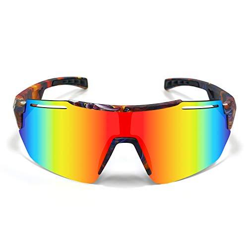 SHANMEI Gafas de Ciclismo Polarizadas Gafas de Sol Deportivas con Montura Gafas de Bicicleta Para Hombres Mujeres Gafas De Sol+UV400 Protección