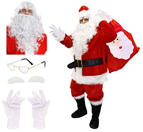 I LOVE FANCY DRESS LTD Déguisement pour Adulte avec ce Costume de Père Noël de en 12 pièces. Idéal pour Les fêtes de Fin d'année (XXXL)