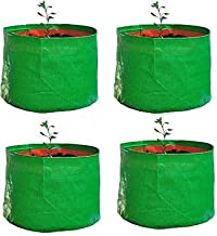 """YUVAGREEN Terrace Gardening Leafy Vegetable Green Grow Bag (15"""" X 15 """") - (Pack Of 4 )"""