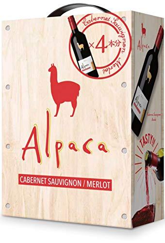 【熟したブラックチェリーやカシスの果実味とまろやかなコクが特徴】サンタ・ヘレナ・アルパカ・カベルネ・メルロー [ 赤ワイン ミディアムボディ チリ 3000ml ]