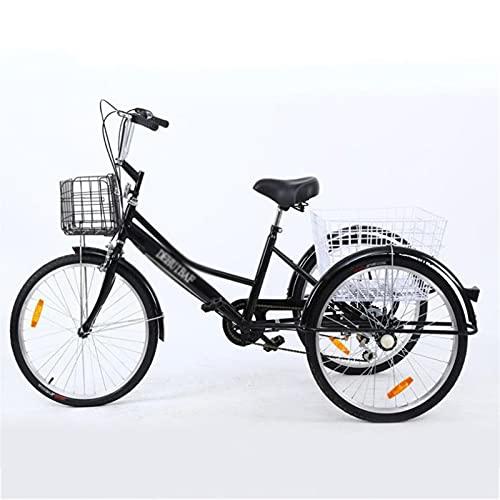 zcyg Triciclo Tricycle Triciclo Adulto 24 Pulgadas 7 Velocidad Tres Ruedas Trible Trible Cruser Trikes Adultos Trikes Arriba A Paso A Través De Las Mujeres Hombres Ejercicio Ejercicio