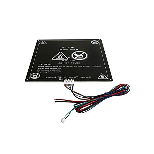 Nologo MZHE MK3 Professional Heated Bed 12V Heatbed 3D Printers Parts Heat Aluminum Plate Portable 3MM PCB Board Accessories Suitable for most printers, making your printer q