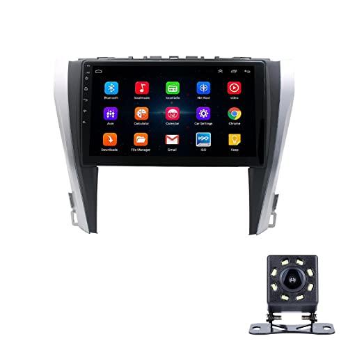 LWYJ 9 Pulgadas Radio De Coche para Toyota Camry 2015-2017, Android 10 Versión, FM Radio Coche Bluetooth con WiFi/Navegación GPS, 1080P HD IPS Sistema Multimedia Pantalla Táctil,2+32G