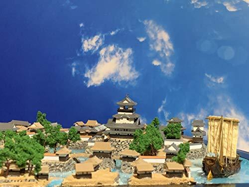 豊臣秀吉の出世城 長浜城 お城 模型 ジオラマ完成品 B4サイズ