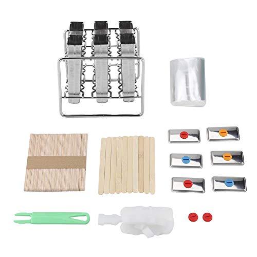 oueaen Regal, Edelstahlformen EIS Industrie Home Küche DIY Ice Pop Mould Maker Tool(1#)