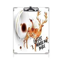 クリップボード Coffee Art プレゼントA4 バインダー 用箋挟 クロス貼 A4 短辺とじ