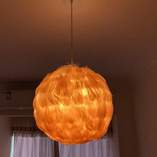 LXTIN Lámpara Colgante de Plumas para Dormitorio Lámparas Colgantes de Plumas románticas Modernas Lámpara de araña en Forma de corazón de Princesa para Comedor, Sala de Estar, E27, Regal